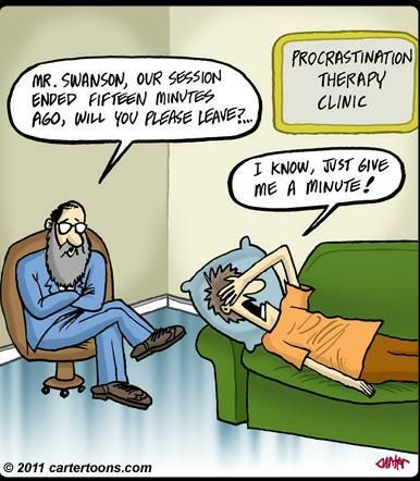 Daily joke/cartoon from www.facebook.com/.... laughter, funny, jokes, cartoon, positive, books, mental health, depression, bipolar disorder, health, women, stress, mental illness, stigma, medication, faith, book reviews, Prozac, postpartum depression, anxiety, OCD, pros, cons, therapy, procrastinate