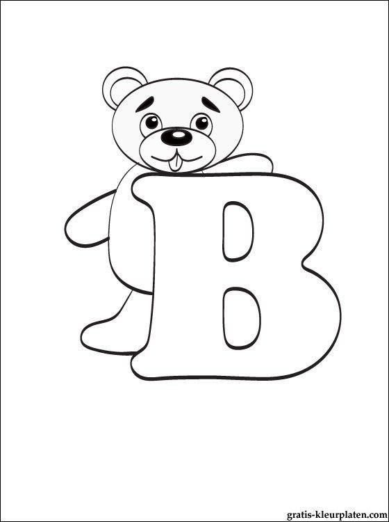 letter b kleurplaat gratis kleurplaten kleurplaten