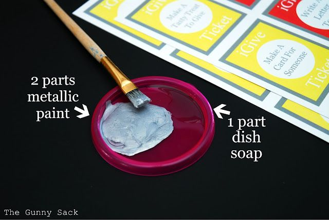 DIY scratch off tickets.  Print your own ticket, etc, cover wording with packing tape or clear contact paper, then paint with a layer of metallic paint that has a bit of dish soap mixed in.  Let dry.  Paint layer will scratch off because of the tape.  FUN!