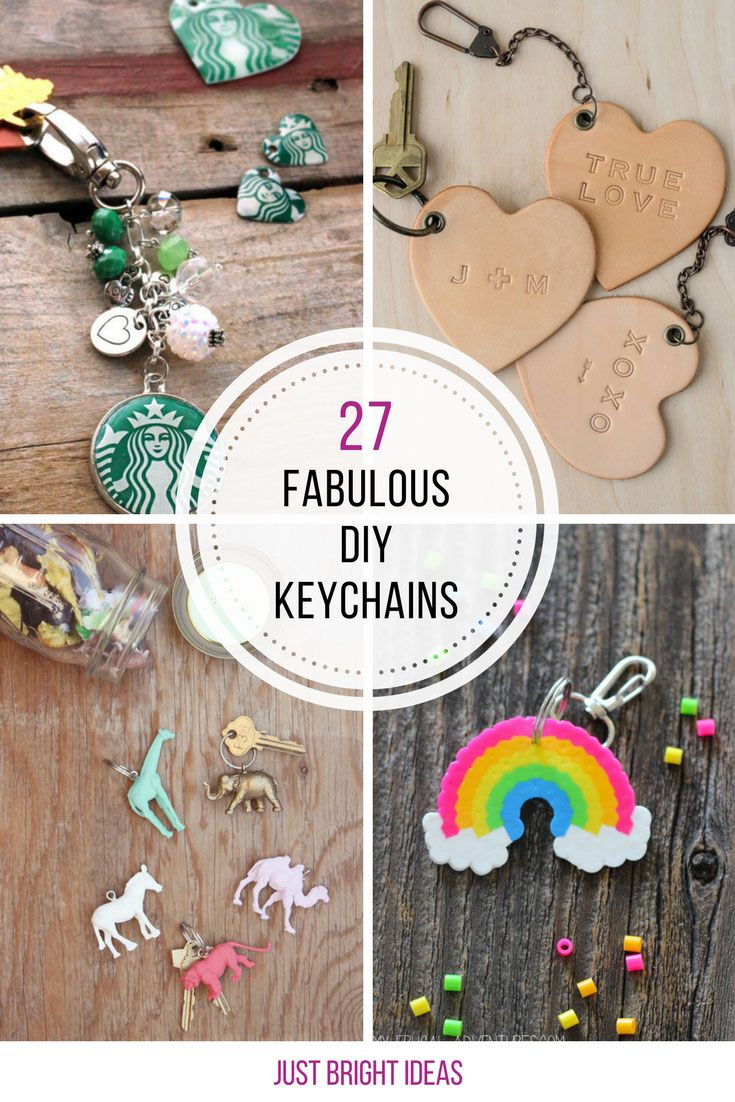 These DIY keychain ideas are gorgeous! They'll make brilliant gifts!