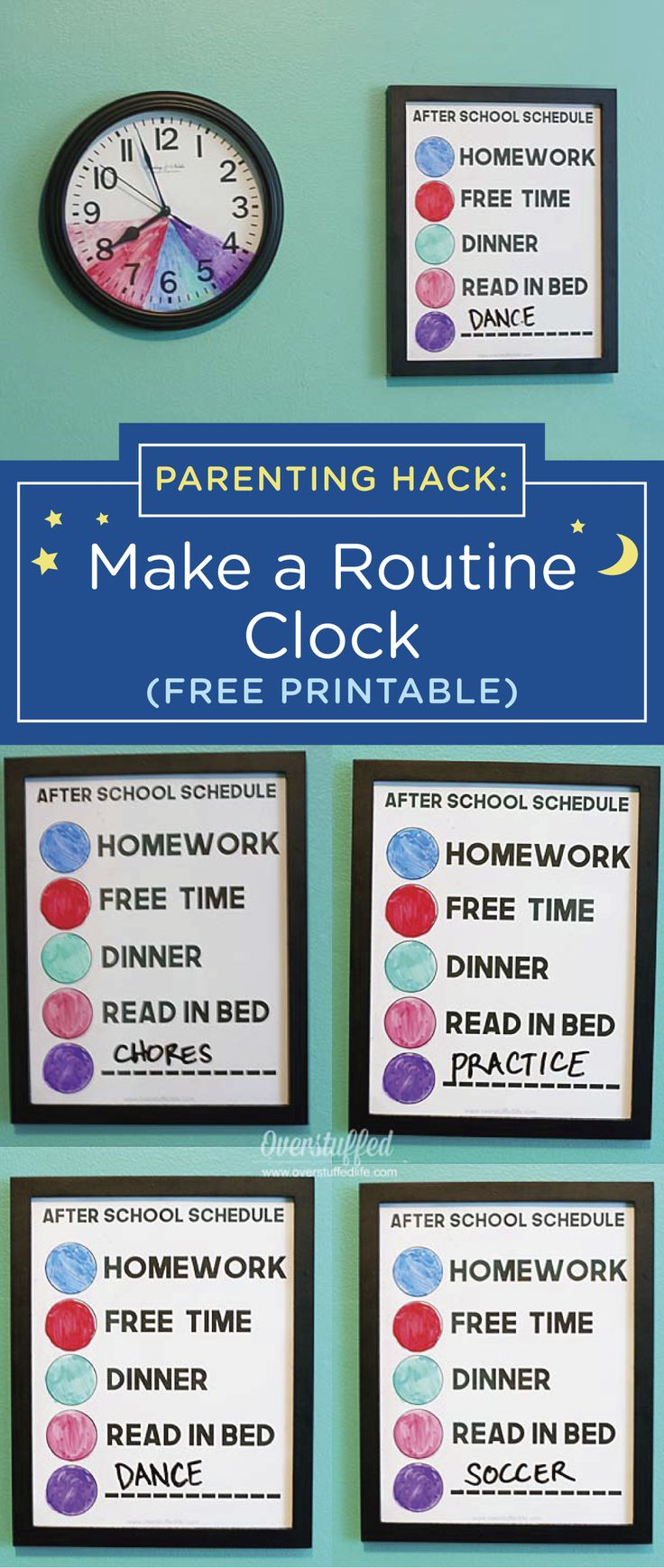 After School Routine Clock for Kids With Variable Schedules {free printable} – GoodNites