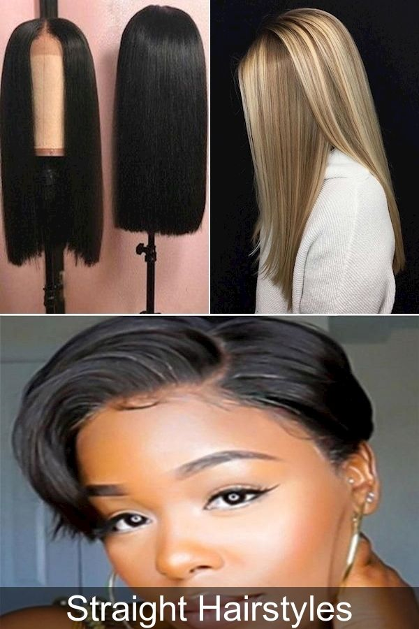 Hairstyles For Long Straight Hair Easy Hairstyles For Straight Hair At Home Straight Haircuts For Wo In 2020 Straight Hairstyles Easy Hairstyles Long Straight Hair