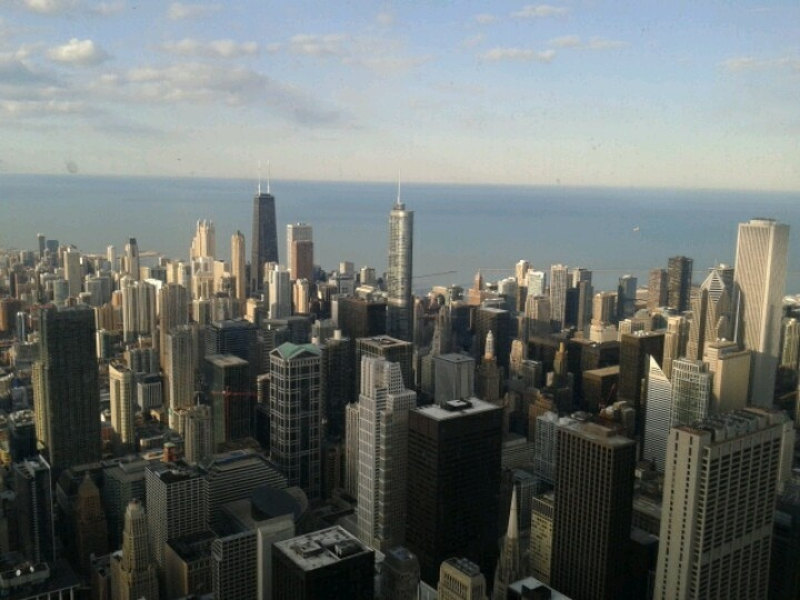 Chicago view from Willis Tower