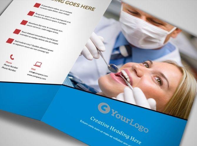 Недорогие, макет буклетов по стоматологии