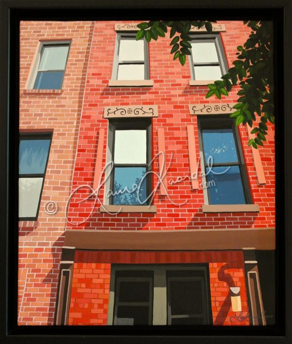 Windows, New York III by Laura Kaardal, Acrylic on Canvas #NYC #architecture #perspective