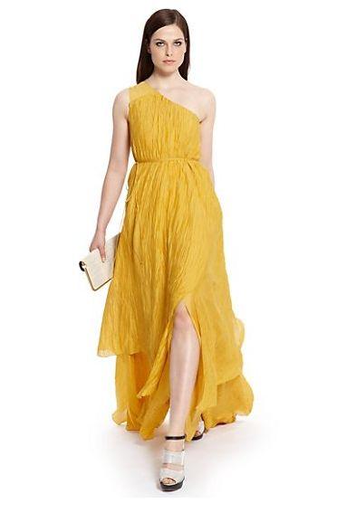 Yellow Wedding Gown Trend from rusticweddingchic.com