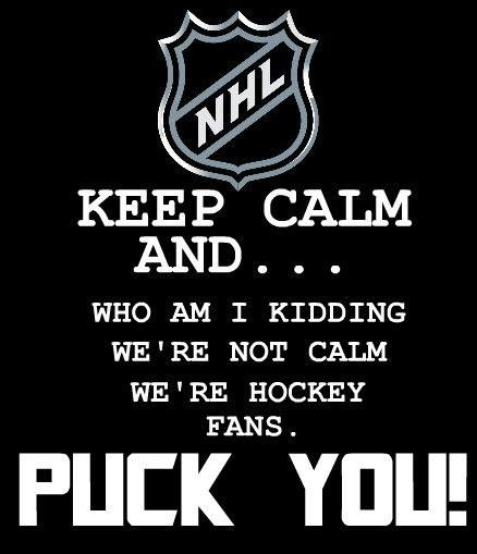Puck you man! This could also be on my board, made me laugh outloud! Love it:)
