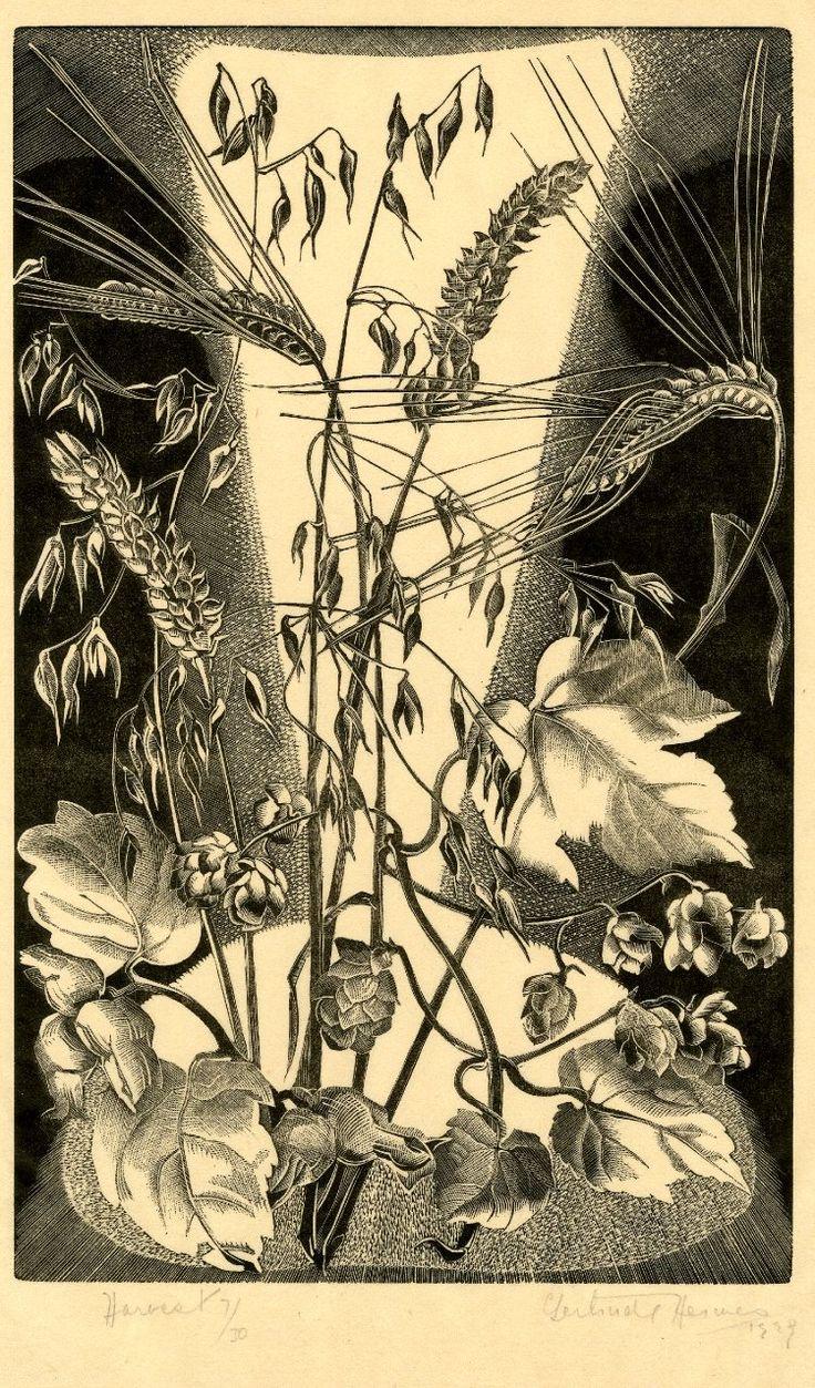 Gertrude Hermes ~ Harvest, 1929 (wood engraving)