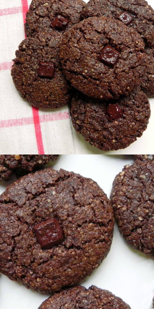 Easy & Delicious GRAIN FREE Double Chocolate Cookies {Chocolate Almond Meal Cookies} - #GLUTENFRE, #GRAINFREE, #PALEO, #VEGAN - Ceara's Kitchen