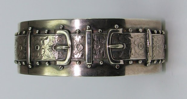 Victorian Silver double buckle Cuff