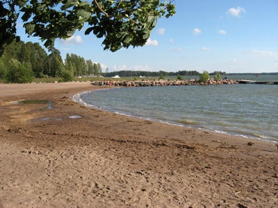 The beach of Tyrskyvuori (Espoo, Finland).