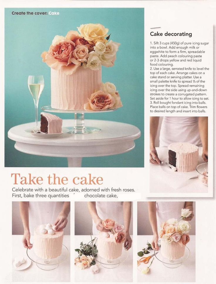 Decorate Cake With Real Roses : Cake decorating with real flowers wedding cakes ...
