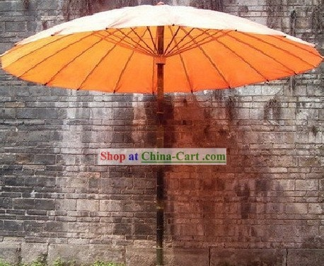 Three Meters Large Chinese Hand Made Patio Umbrella