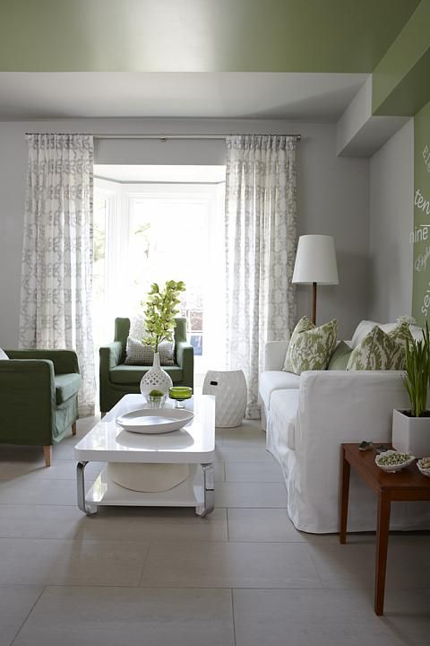 sarah richardson sarah 101 green living room. Paint contrasting color to create architectural interest.