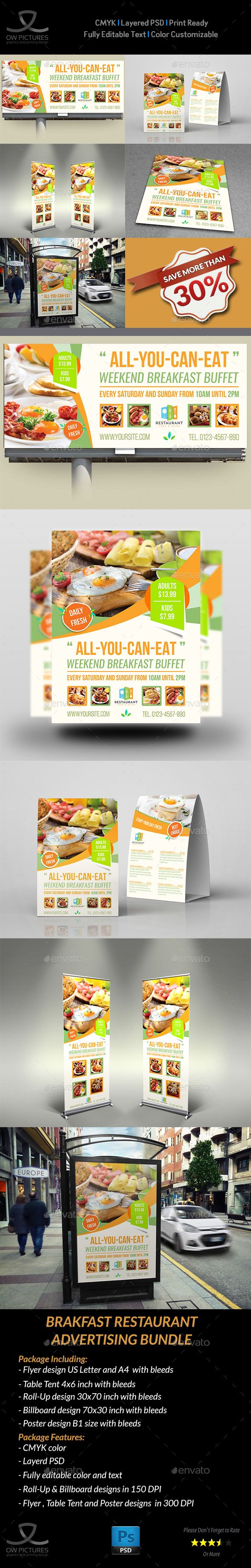 Breakfast Restaurant Advertising Package