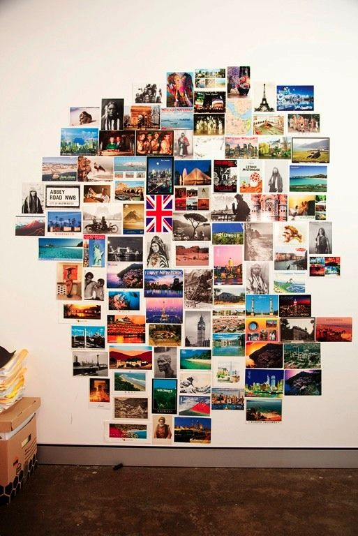 Gah! I wish I did not throw out all my post cards! Love this idea! >> george gorrow « the selby