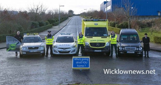 "Wicklownews.net road safety campaign ""Who's going to take YOU home?"" 