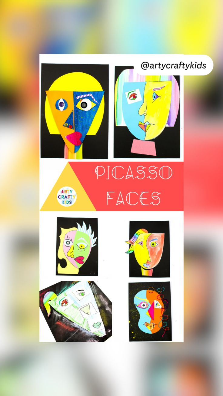 Abstract Art For Kids, Painting For Kids, Painting Activities, Art Activities For Kids, Easy Art For Kids, Montessori Art, 2nd Grade Art, Picasso Art, Art Drawings For Kids