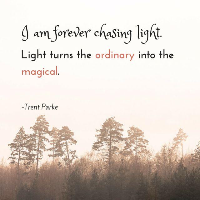 """""""Ich bin für immer hinter Licht her. Licht macht das Gewöhnliche zum Magischen."""" Trent Parke"""