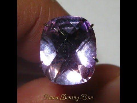 Batu Permata Amethyst Light Purple Cushion Buff Top 3.78 carat