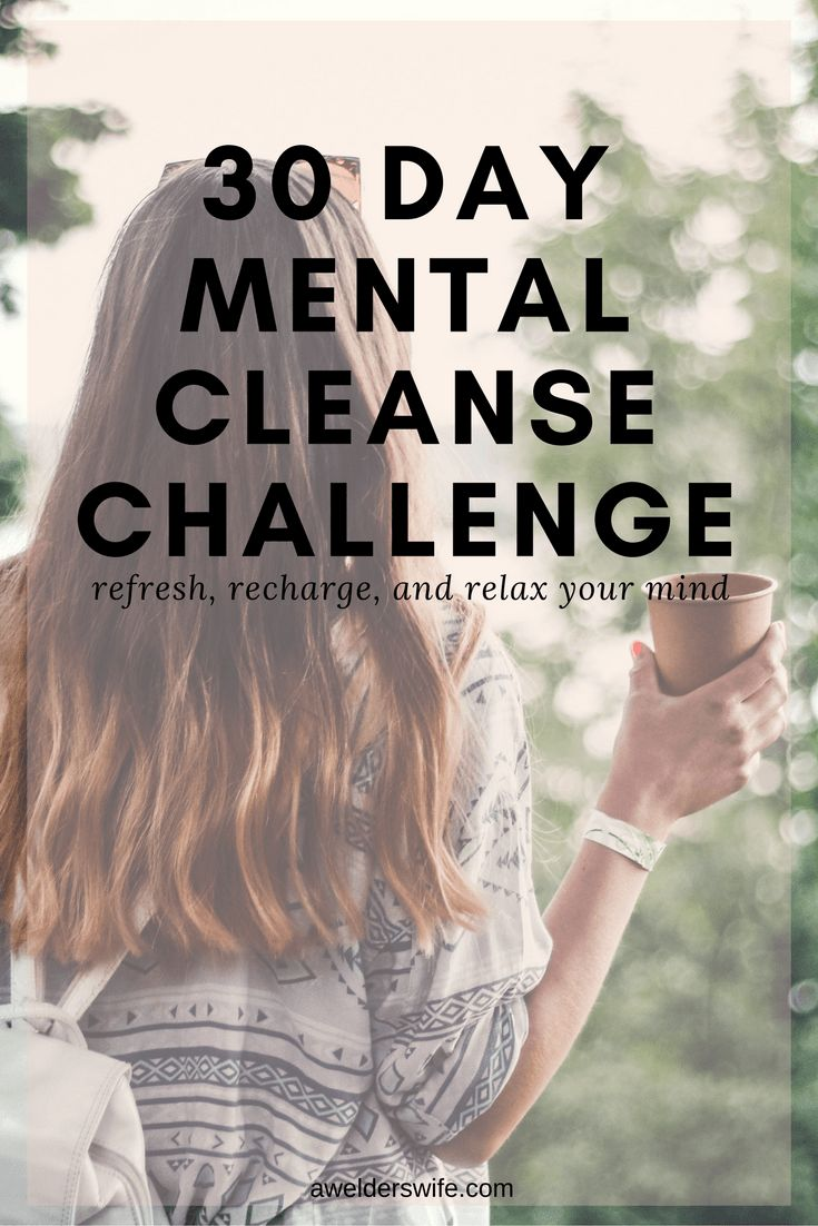 Mental Cleanse Challenge: Week One | www.awelderswife.com