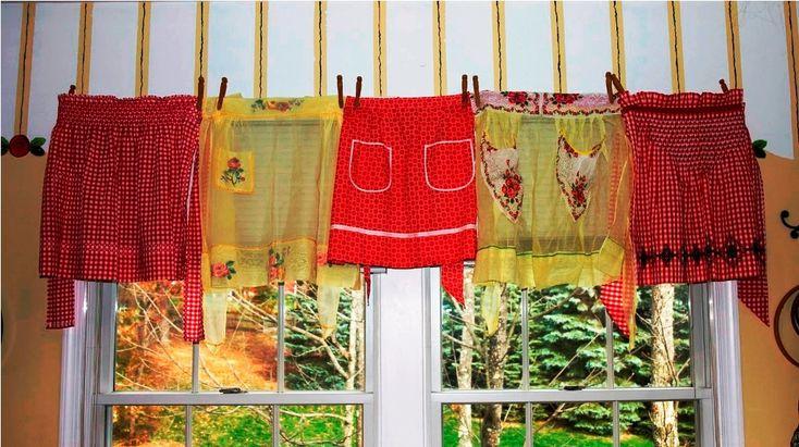 Retro Kitchen Curtains : about Vintage Kitchen Curtains on Pinterest Kitchen curtains, Retro ...