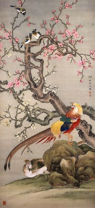 Artist Okada Kanrin. Hanging Scroll 1800-1880, Japan