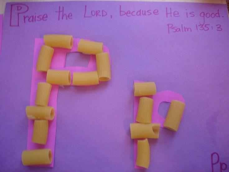 letter p - scripture craft