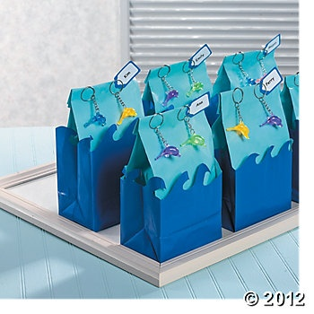 Pool Party Gift Bag Ideas swimming and snowflakes a winter birthday pool party mygrafico party ideas giveaways blog Dolphin Treat Bags For Your Pool Party