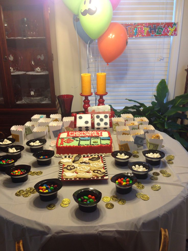 monopoly themed party food