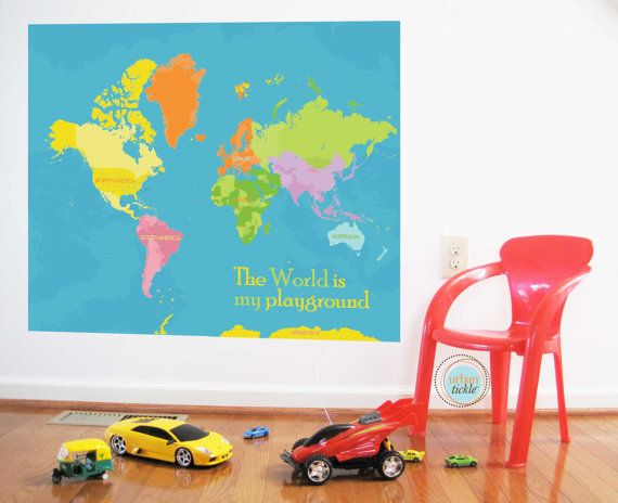 28 best world map sticker decor images on pinterest world maps world map decal beautiful big world 59x50 inches by urbantickle 10800 gumiabroncs Image collections