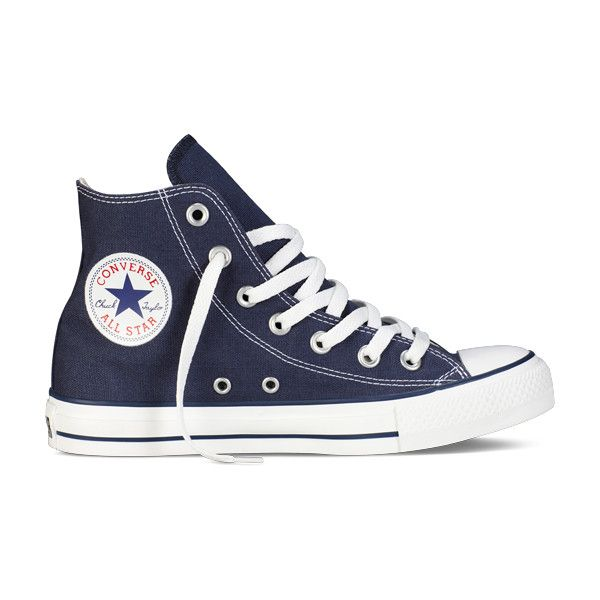 Navy Blue High Top Chuck Taylor Shoes : Converse Shoes | Converse.com ($55