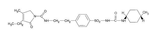 AMARYL (glimepiride) Structural Formula Illustration