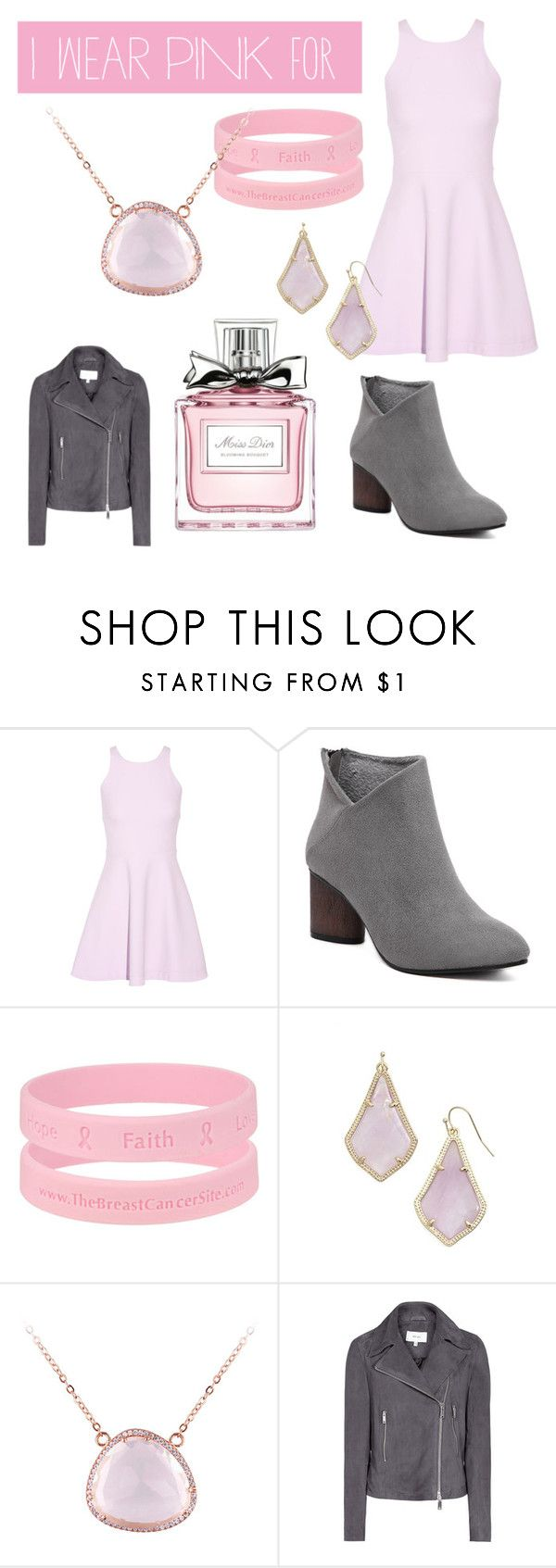 """""""I wear pink for Jesse Graff"""" by mandy-921 ❤ liked on Polyvore featuring Elizabeth and James, Kendra Scott, Christian Dior and IWearPinkFor"""
