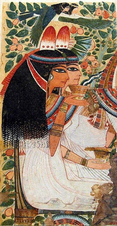 *EGYPT ~ The mother and wife of Userhat ~ Tomb of Userhat Amod