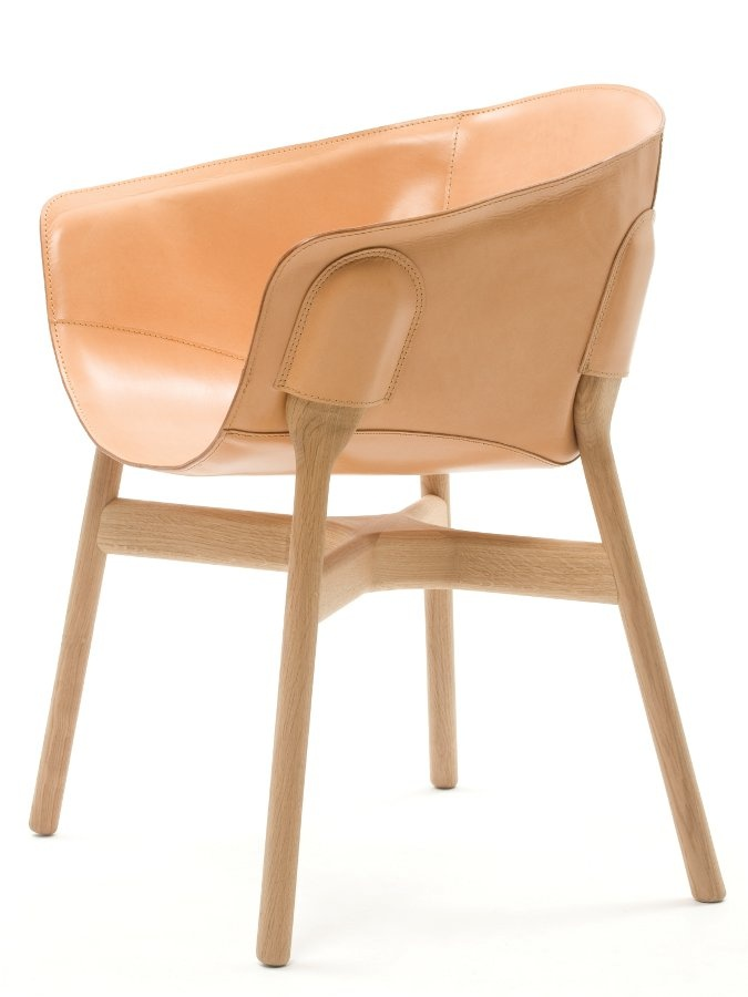 Pocket #Chair by Discipline | #design Ding 3000 #wood #leather