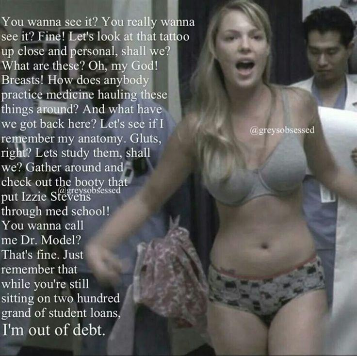 Izzie Stevens preaching some truth!