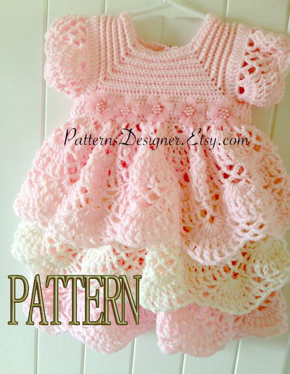 WAS $7.99 This dress is made with baby sport yarn Size 3.  INSTANT DOWNLOAD PATTERNS ARE NON-REFUNDABLE.  THIS IS THE PATTERN ONLY.  SIZES: 3-6 MONTHS 6-12 MONTHS  You can order the finished Item at my suziestalents.etsy.com shop, and I would love to make it for your baby.  Your purchased pattern will be available for download when your payment transaction is completed.  YOU ARE NOT ALLOWED TO RESELL MY PATTERN IN ANY FORM. YOU CAN SELL YOUR OWN FINISHED ITEM ONLY.  like my Facebook page to…