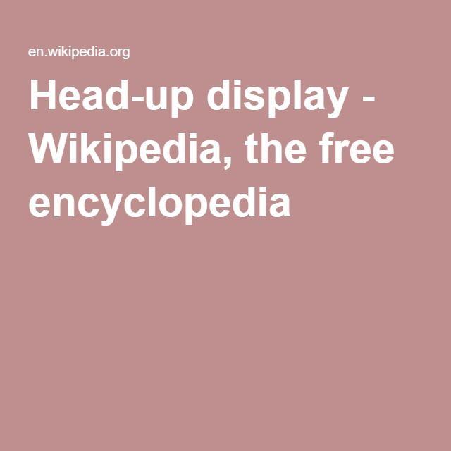 Head-up display - Wikipedia, the free encyclopedia