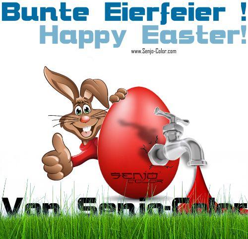 Bunte Eierfeier! Happy Easter! ¡Felices Pascuas! #ostern #easter mit #senjocolor