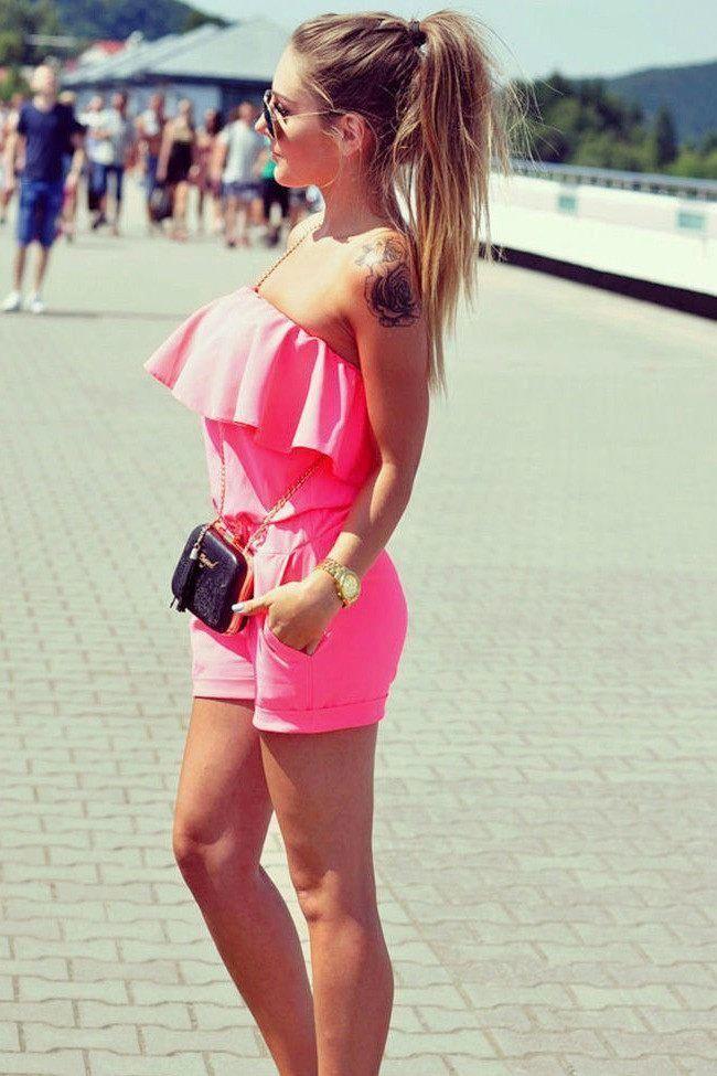 b13db09abd3 Dress - Dreaming Of Summer Pink Romper  womensfashionbohoswimwear ...