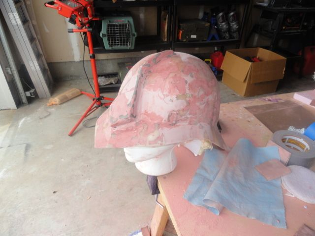 How to make a lightweight fiberglass and resin helmet