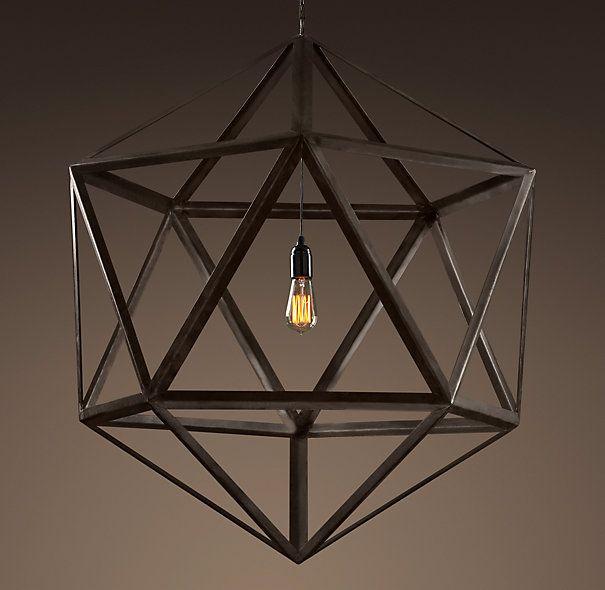 steel polyhedron pendant. rh