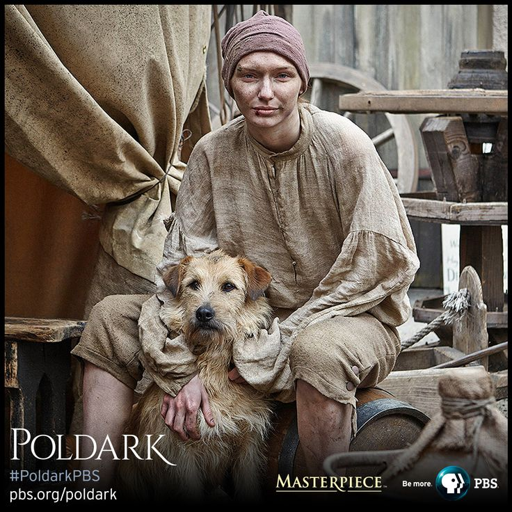Eleanor Tomlinson as Demelza in boy costume. Breeches and shirt made from silk and linen, dyed and broken down. | Poldark, as seen on Masterpiece PBS