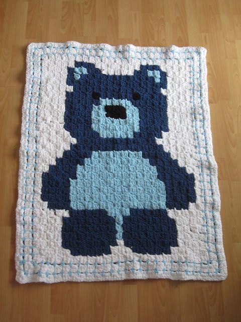 Babydecke C2c Häkeln Teddybär Crochet Baby Blanket Diy Häkeln