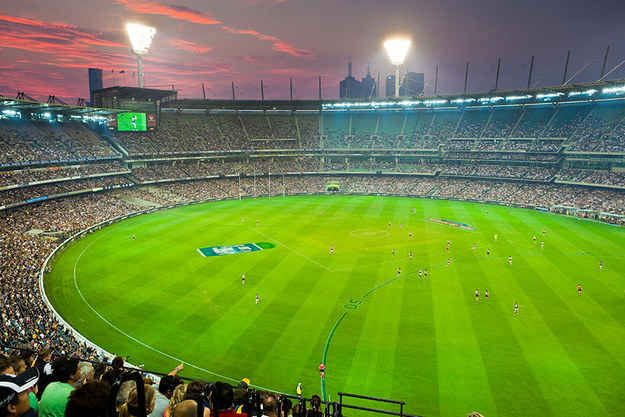 Watch a game of AFL.