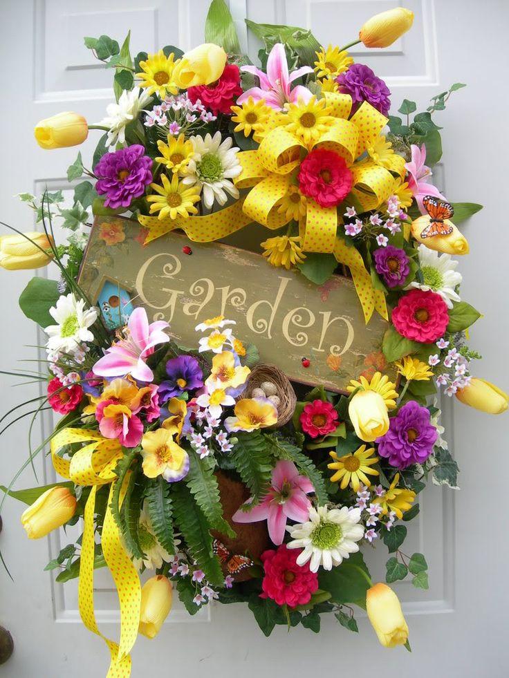 spring wreathDoors Wreaths, Spring Flower, Doors Decor, Beautiful Spring, Diy Wreaths, Springtime Wreaths, Front Doors, Floral Wreaths, Spring Wreaths Crafts Ideas