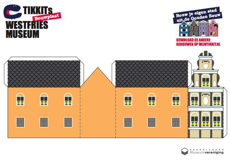 bij les 6 en 8; creatief: bouwplaten:Bouw je eigen stad uit de Gouden Eeuw