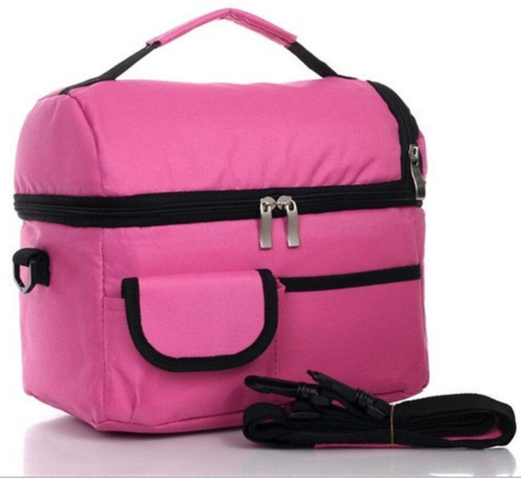 2 Layers Insulated Cooler Bag Thermal Lunch Box Picnic Food Storage Tote Bag Wholesale Bulk Lot Accessories Supply Product