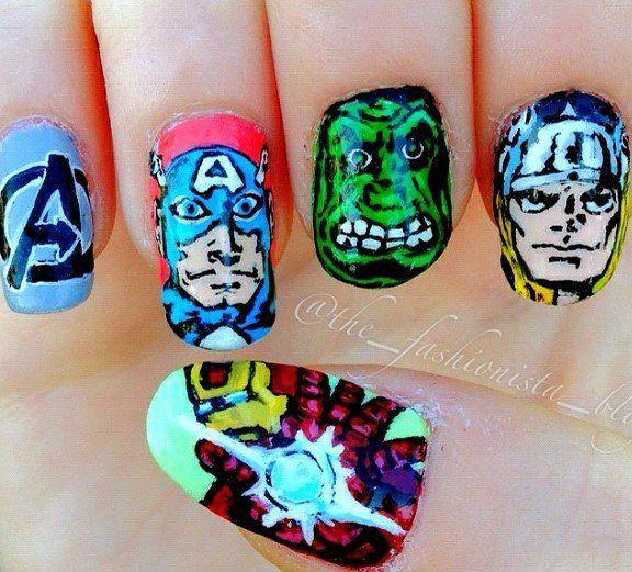 17 Best Ideas About Avengers Nails On Pinterest